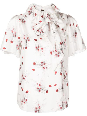 Шелковая блузка - белая Adam Lippes