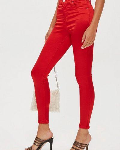 Красные брюки повседневные Topshop