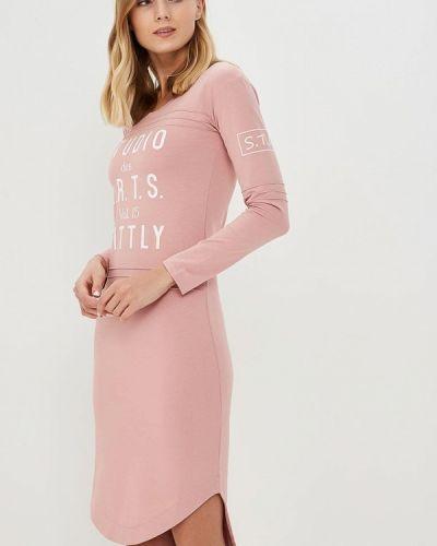 Платье розовое осеннее Sitlly
