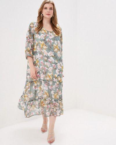 Повседневное платье весеннее бирюзовый Intikoma