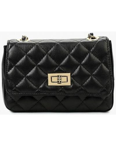 Черная сумка через плечо из натуральной кожи Roberta Rossi