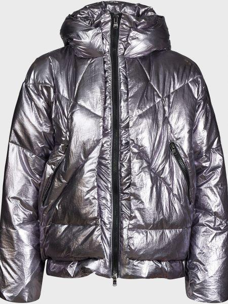 Серебряная куртка на молнии с подкладкой Canadian