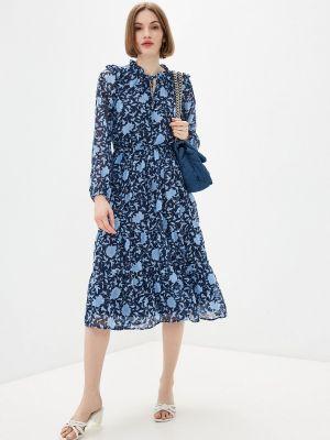 Прямое синее платье А-силуэта Zolla