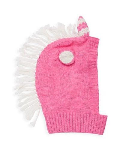 Prążkowany kapelusz wełniany z frędzlami Portolano Kids