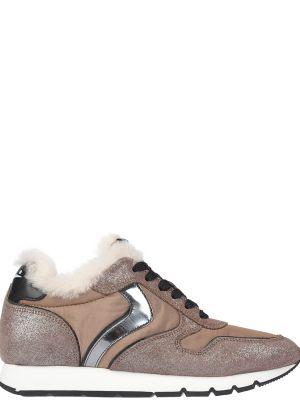 Текстильные кроссовки - бежевые Voile Blanche