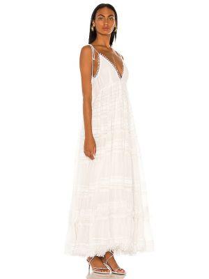 Biała sukienka z haftem Rococo Sand