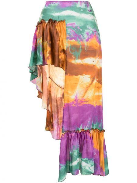 Фиолетовая юбка на молнии с пайетками Wandering