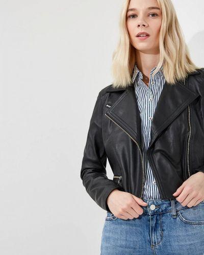 Черная джинсовая куртка Versace Jeans