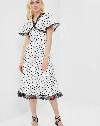 Прямое белое платье Cavo