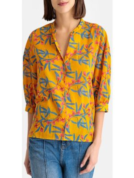 Блузка с коротким рукавом на резинке со спущенными плечами с вырезом с рисунком Harris Wilson