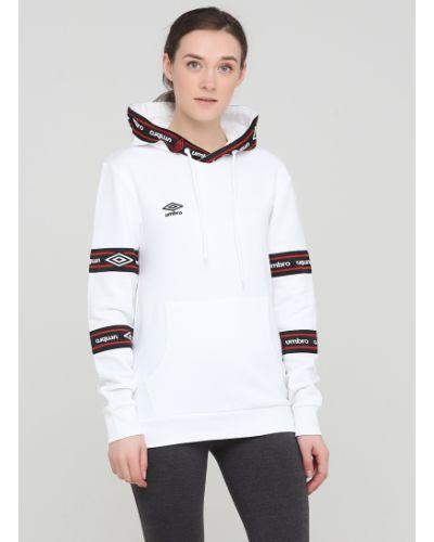 Белая кофта с капюшоном Umbro