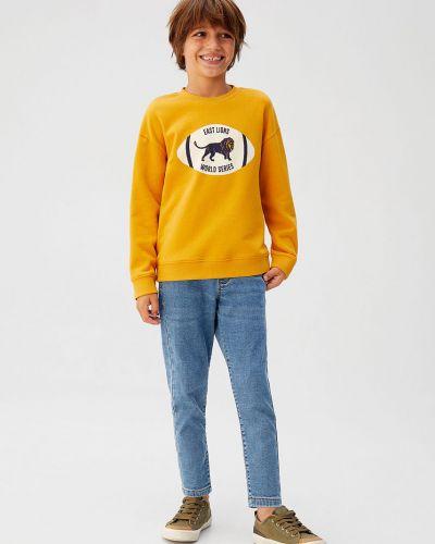 Jeansy z wiskozy niebieski Mango Kids