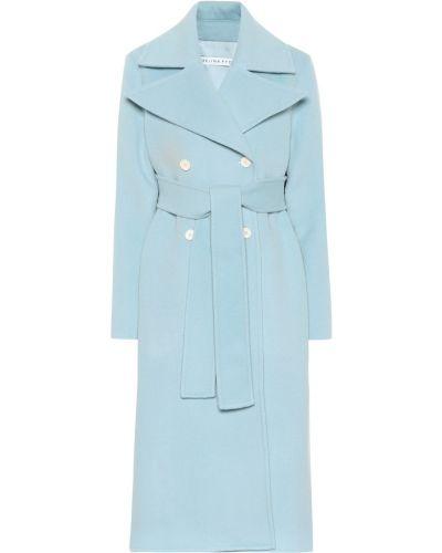 Синее шерстяное пальто Rejina Pyo