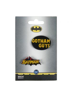 Żółta broszka Batman