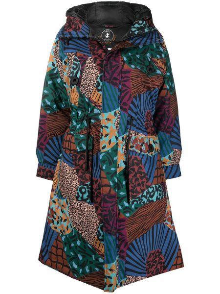 Длинное пальто с капюшоном на пуговицах M Missoni