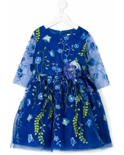 Платье с рукавами из фатина синий David Charles Kids
