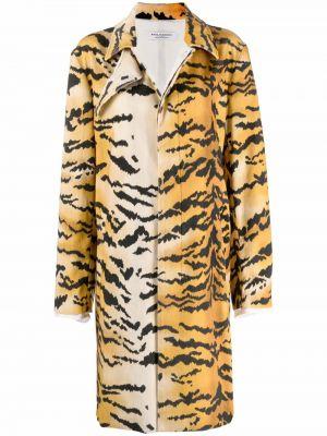 Оранжевое пальто из вискозы Philosophy Di Lorenzo Serafini