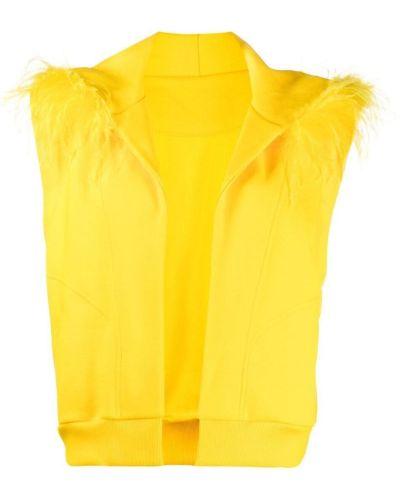 Żółta kamizelka bez rękawów bawełniana Styland