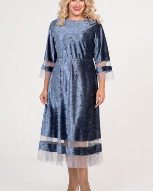 Платье со вставками сетчатое Luxury
