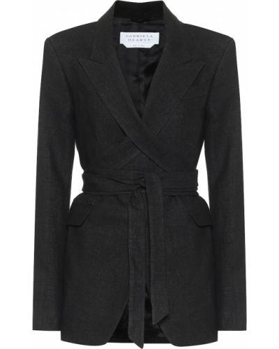 Льняной черный пиджак Gabriela Hearst