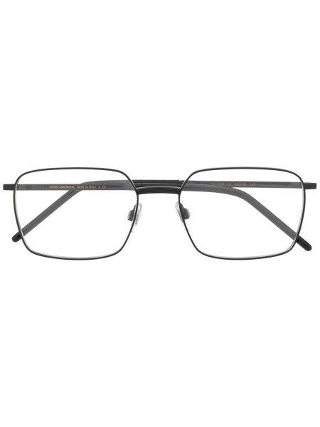 Czarny oprawka do okularów metal plac Dolce & Gabbana Eyewear