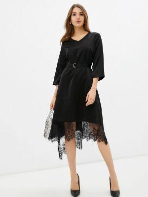Черное зимнее платье Cavo