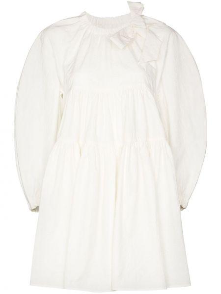 Biała sukienka mini bawełniana Shushu/tong