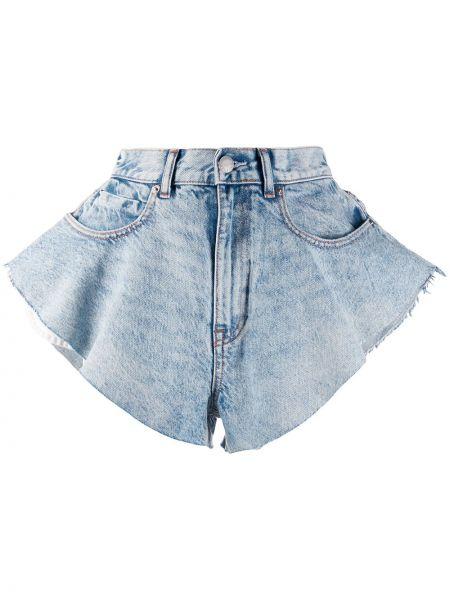Джинсовые шорты с завышенной талией - синие Alexander Wang