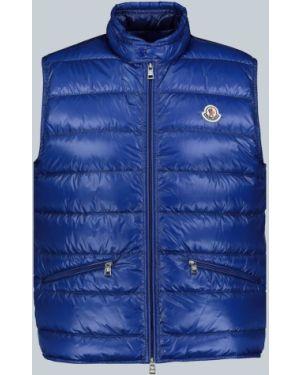 Niebieska ciepła sport kamizelka Moncler