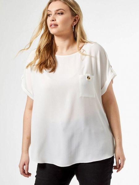Блузка с коротким рукавом белая весенний Dorothy Perkins Curve