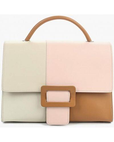 Кожаная сумка бежевый итальянский Madeleine