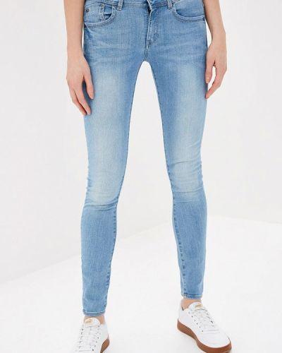 Голубые джинсы-скинни G-star