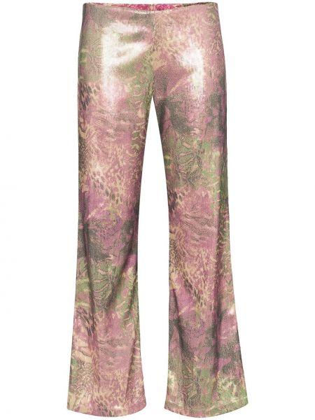 Przycięte spodnie elastyczne z wzorem Collina Strada