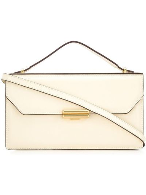 Кожаная сумка на плечо на молнии с карманами Manu Atelier