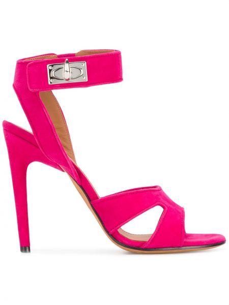 Otwarty różowy sandały z klamrą otwarty palec u nogi Givenchy