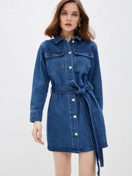 Джинсовое платье осеннее синее Tantra