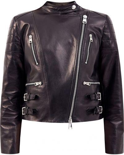 Черная кожаная куртка с подкладкой Ermanno Scervino