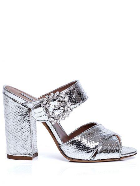 Sandały skorzane klamry peep toe Tabitha Simmons