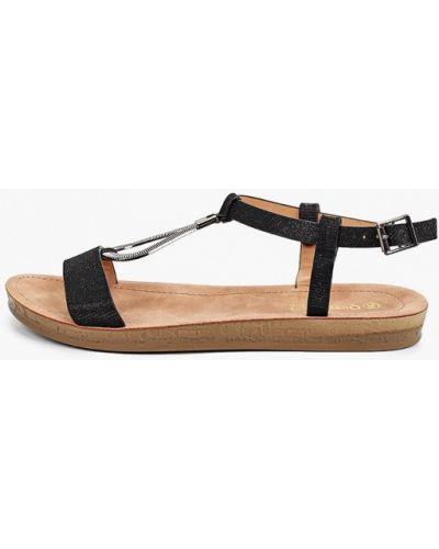 Текстильные черные сандалии Queen Vivi