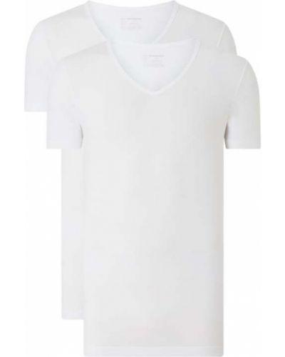 Biały t-shirt bawełniany Schiesser