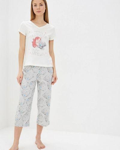 Пижама белая серая Marks & Spencer