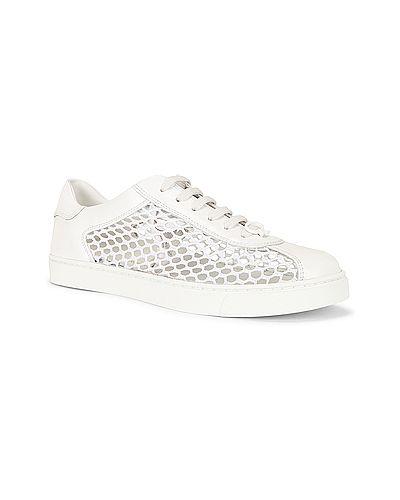 Кожаные белые кроссовки на шнурках Gianvito Rossi