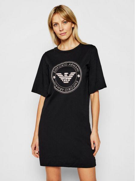 Koszula nocna - czarna Emporio Armani Underwear