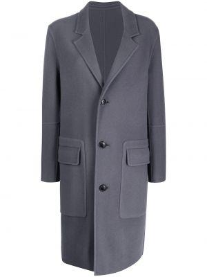 Шерстяное пальто - серое Ami Paris