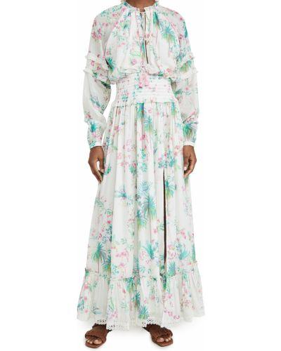 Платье макси с длинными рукавами с декольте с подкладкой Hemant And Nandita
