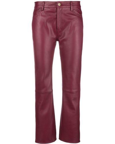 Красные укороченные брюки с поясом Mih Jeans