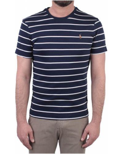 Biały top krótki rękaw w paski Polo Ralph Lauren