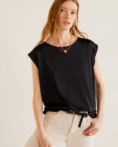 Koszula czarny skromny Mango