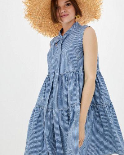 Платье - голубое Frankie Morello