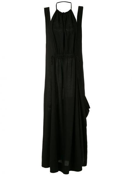 Плиссированное платье макси на молнии без рукавов с вырезом Mara Mac